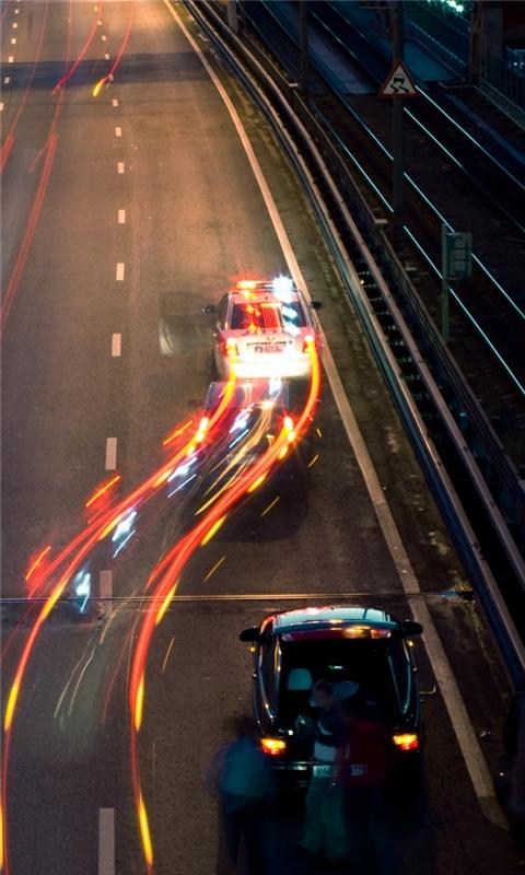 Highway at Night Windows Phone Wallpaper