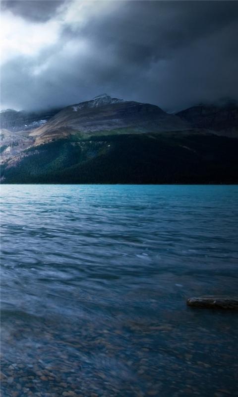 Wonderful River and Mountain Windows Phone Wallpaper