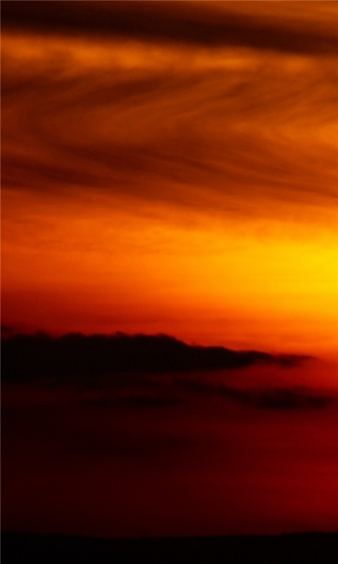 Setting big red sun Windows Phone Wallpaper