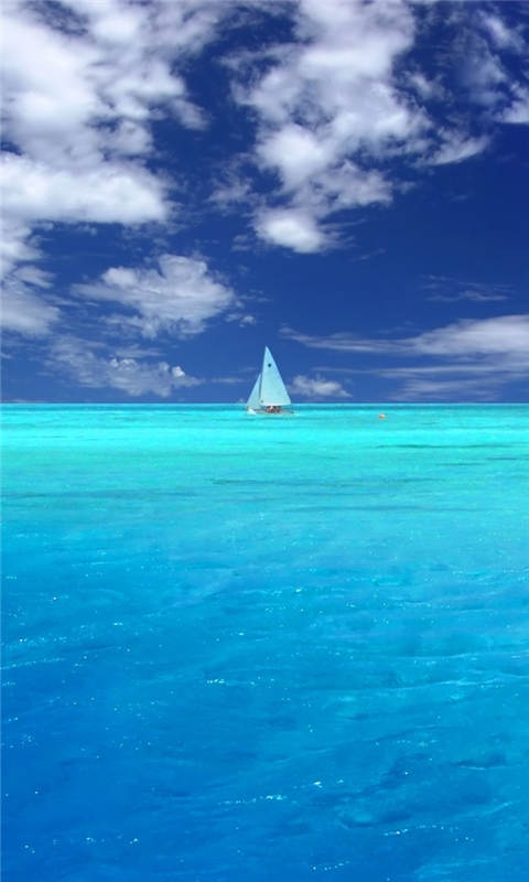 Wonderful Blue Ocean Windows Phone Wallpaper
