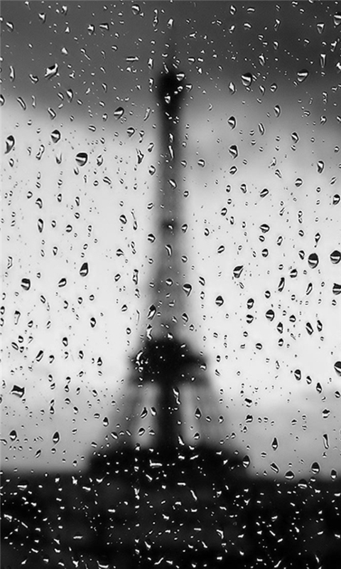 Rainy Paris Windows Phone Wallpaper