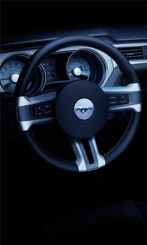 Ford Mustang Convertible Dashboard Windows Phone Wallpaper
