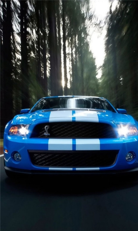 Ford Shelby Blue Windows Phone Wallpaper
