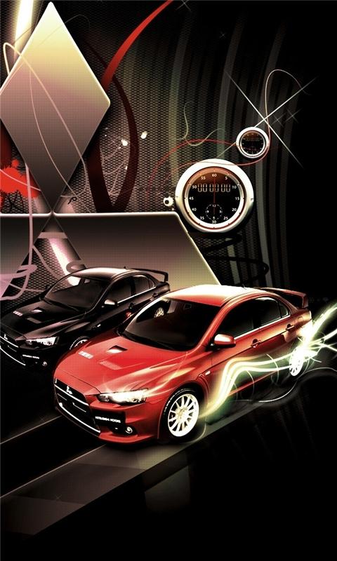 Mitsubishi Lancer Evolution Logo Windows Phone Wallpaper