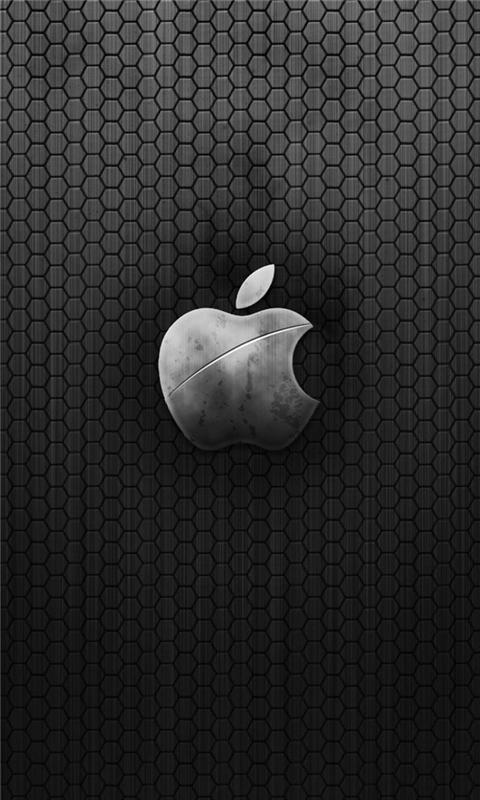 Metal Apple Logo Windows Phone Wallpaper