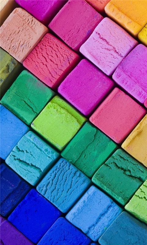 Color Wooden Blocks Windows Phone Wallpaper