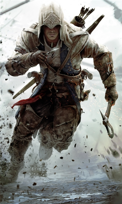Assassins Creed 3 Connor Free Running Windows Phone Wallpaper