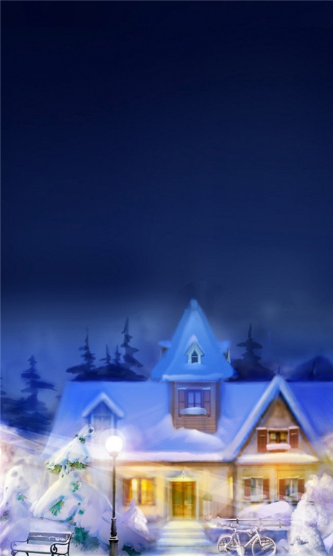 Christmas town Windows Phone Wallpaper