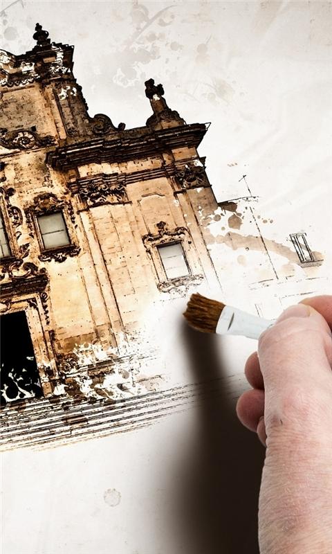 Hand Painting Windows Phone Wallpaper