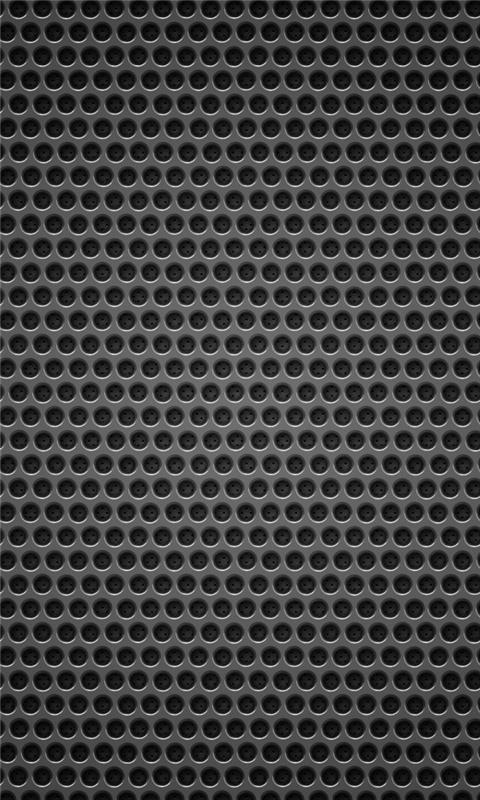 Black background metal hole Windows Phone Wallpaper