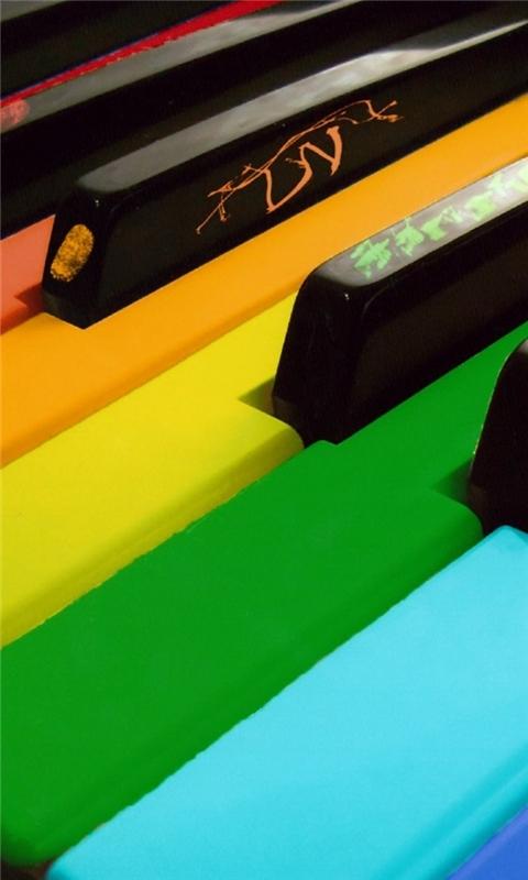 Colorful Piano Windows Phone Wallpaper