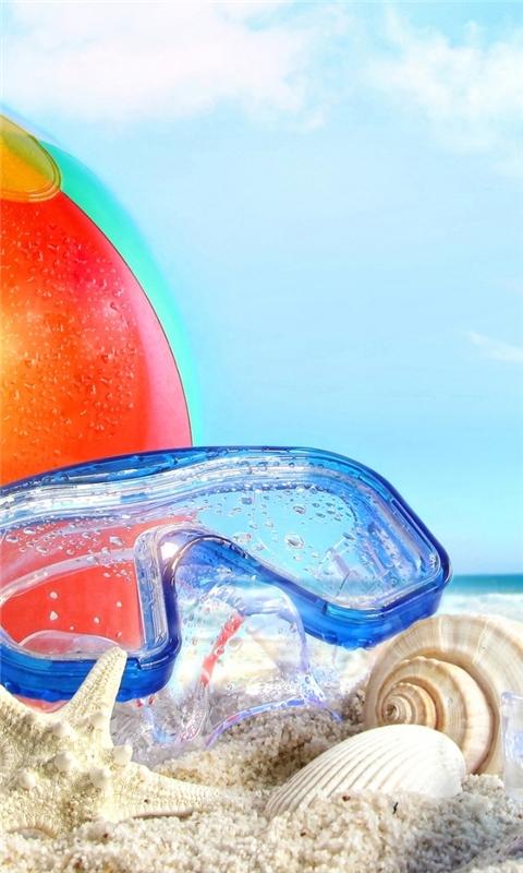 Cool Beach Accessories Windows Phone Wallpaper
