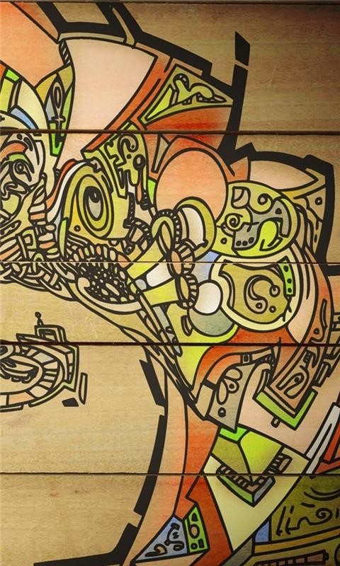 Wood Graffiti Windows Phone Wallpaper