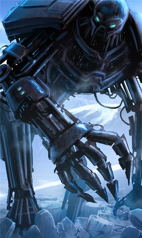 Huge Robot Monster Windows Phone Wallpaper