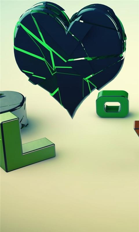 Heart And Love Windows Phone Wallpaper