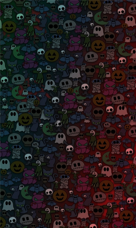 Halloween Monsters Windows Phone Wallpaper