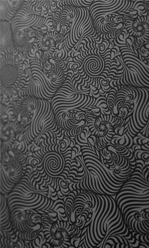 Texture Black White Patterns Tigers Windows Phone Wallpaper