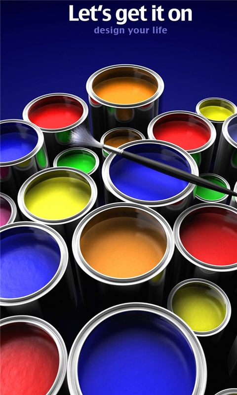 Paint Buckets Windows Phone Wallpaper