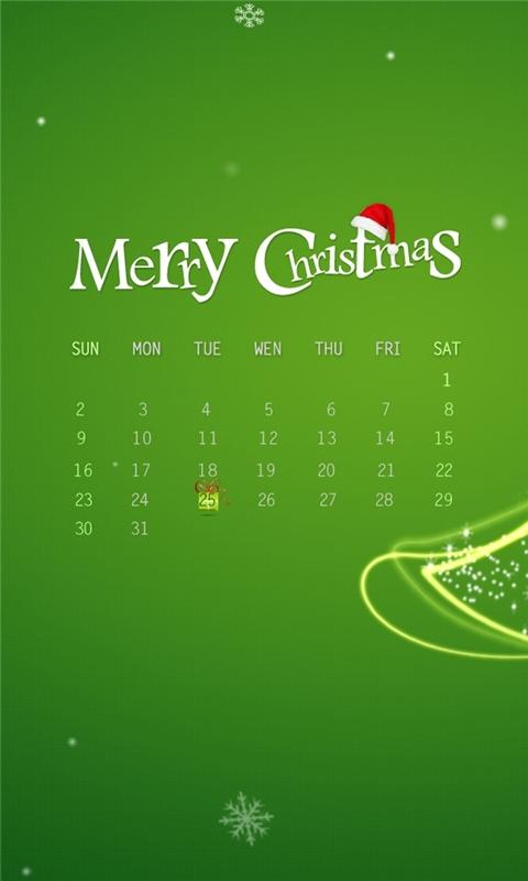 Christmas December 2012 Windows Phone Wallpaper