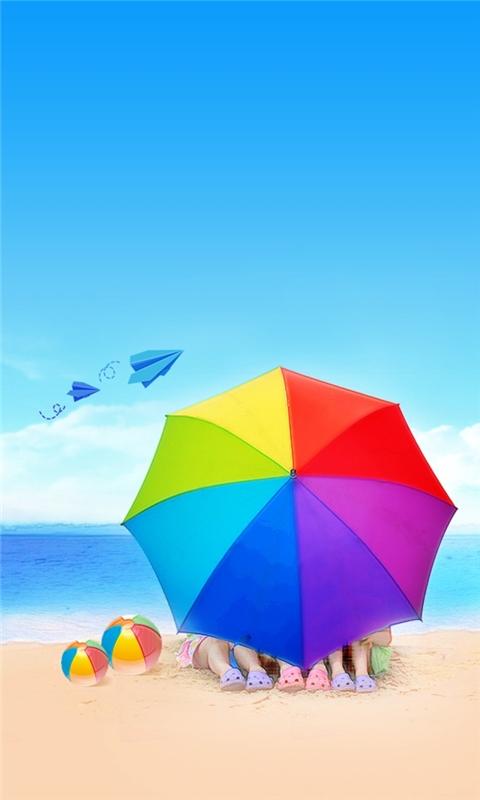 Romantic beach Windows Phone Wallpaper