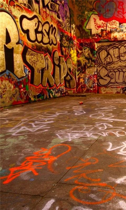 Graffiti room Windows Phone Wallpaper