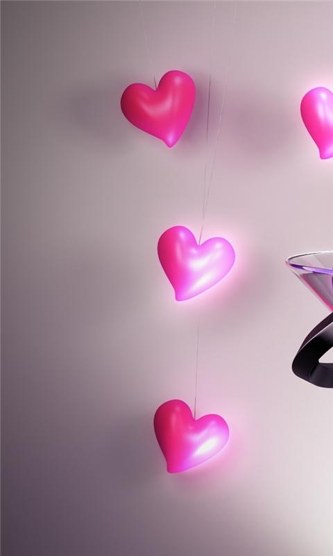 Lucky Hearts Windows Phone Wallpaper