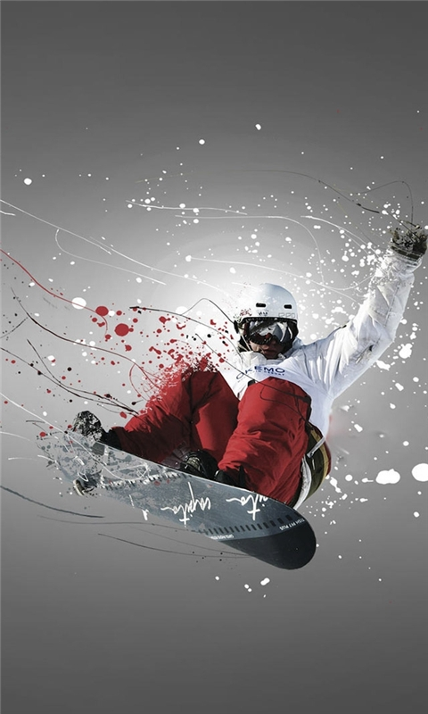 Snowboarder Sport Windows Phone Wallpaper