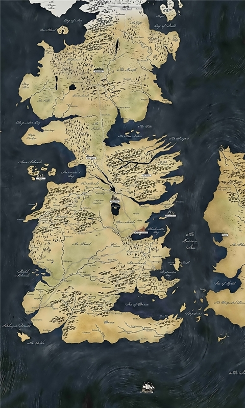 Map Game of Thrones Windows Phone Wallpaper