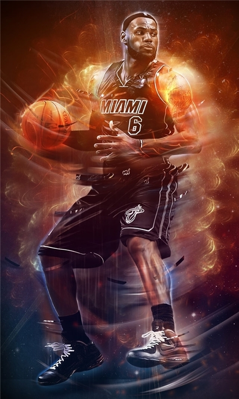 LeBron James NBA Windows Phone Wallpaper
