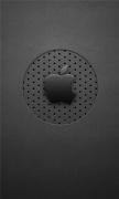 Black Dots Apple Logo