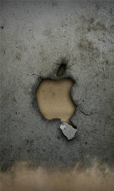 Broken Apple Wall Windows Phone Wallpaper