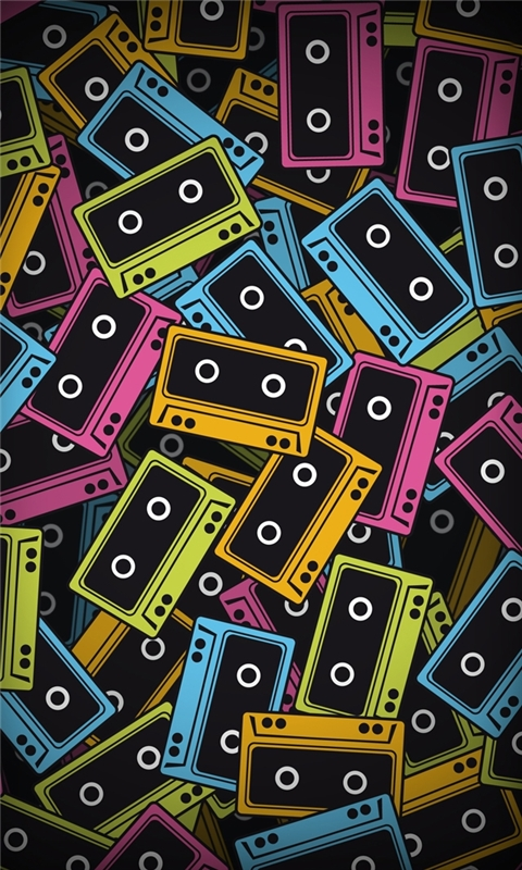 Audio tapes Windows Phone Wallpaper