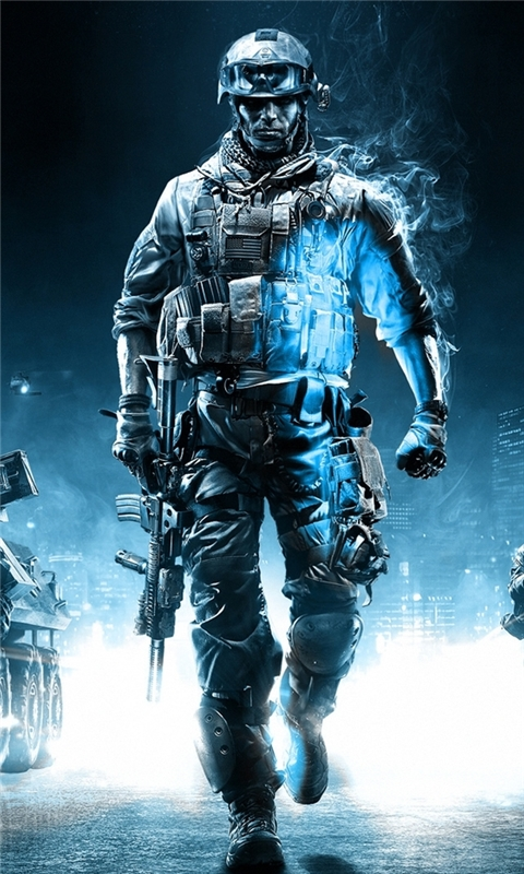 Battlefield 3 Action Game Windows Phone Wallpaper