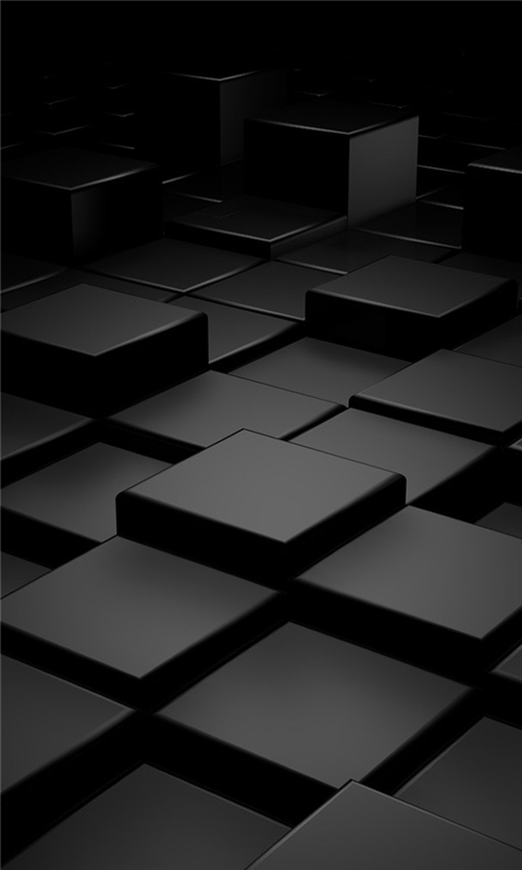 Black 3D Blocks Windows Phone Wallpaper