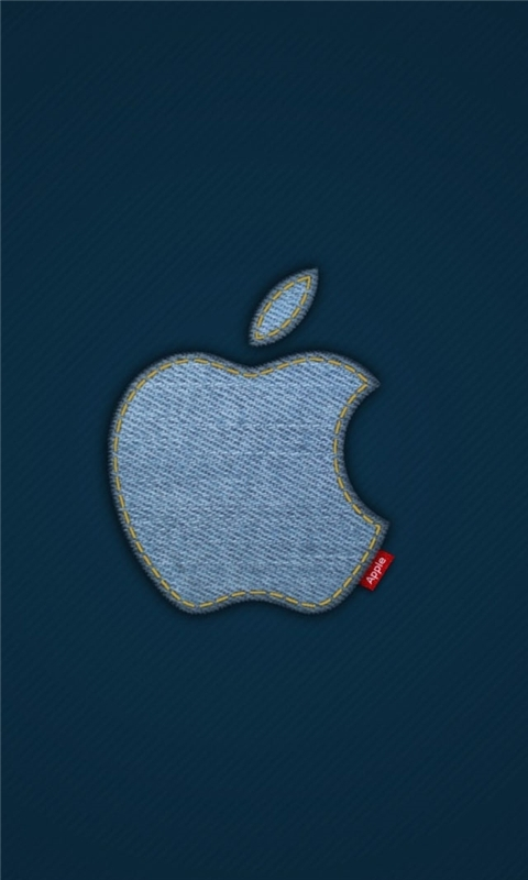 Apple Blue Jeans Logo Windows Phone Wallpaper