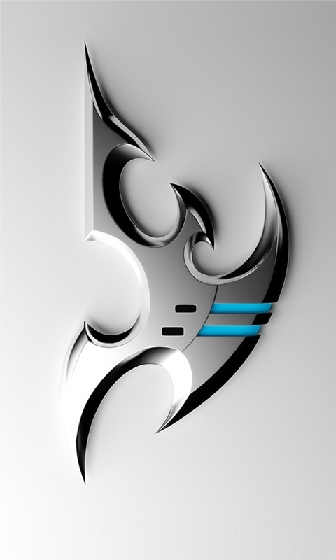 Silver Metal StarCraft II Windows Phone Wallpaper
