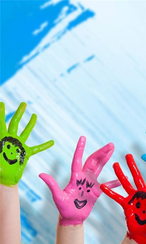 Happy Hands Windows Phone Wallpaper