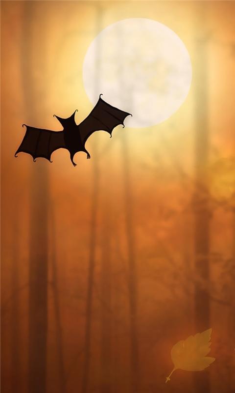 Halloween Bats Windows Phone Wallpaper