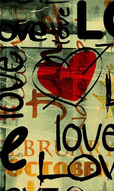 Love Written In Graffiti Windows Phone Wallpaper