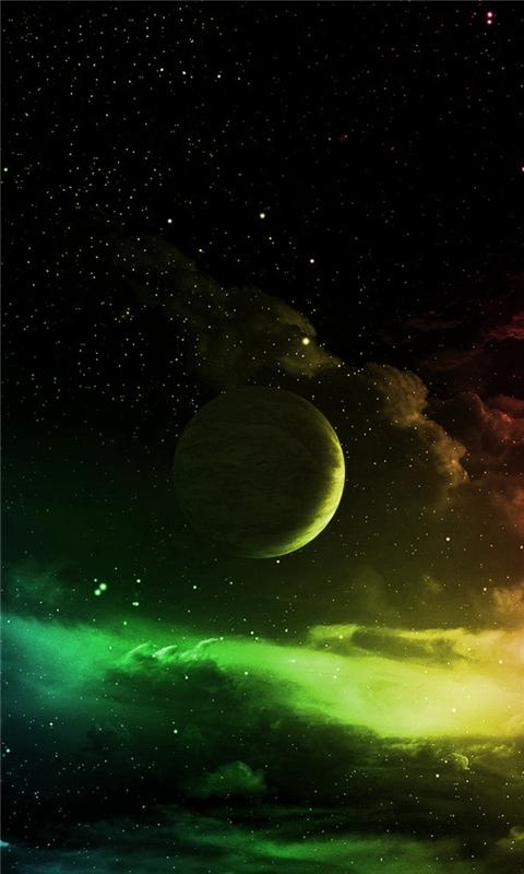 Space Planet Windows Phone Wallpaper