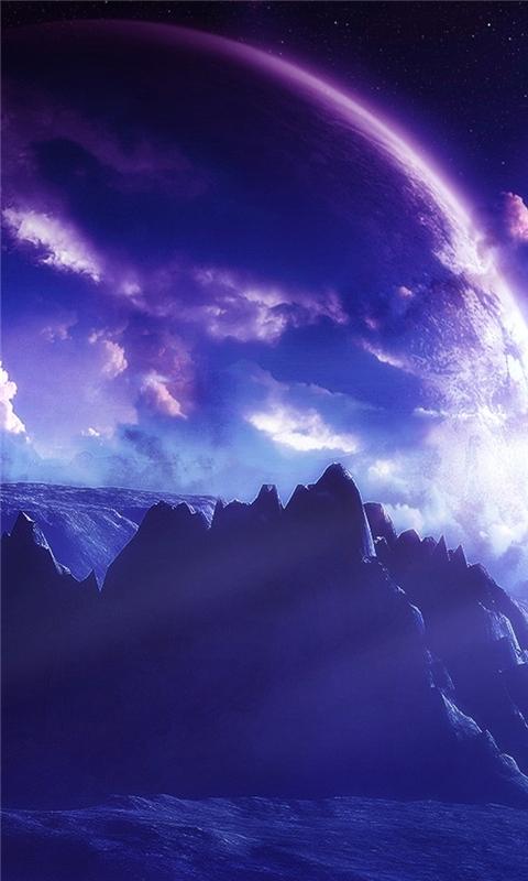 Purple Planets Windows Phone Wallpaper