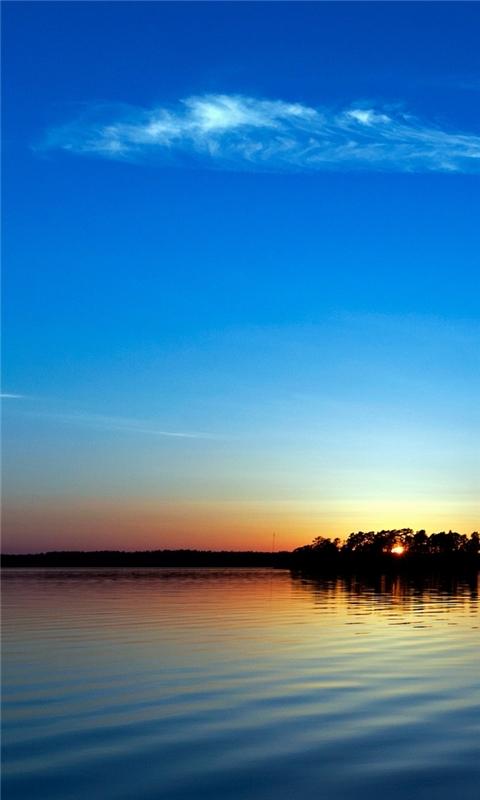 Blue Sunset Windows Phone Wallpaper