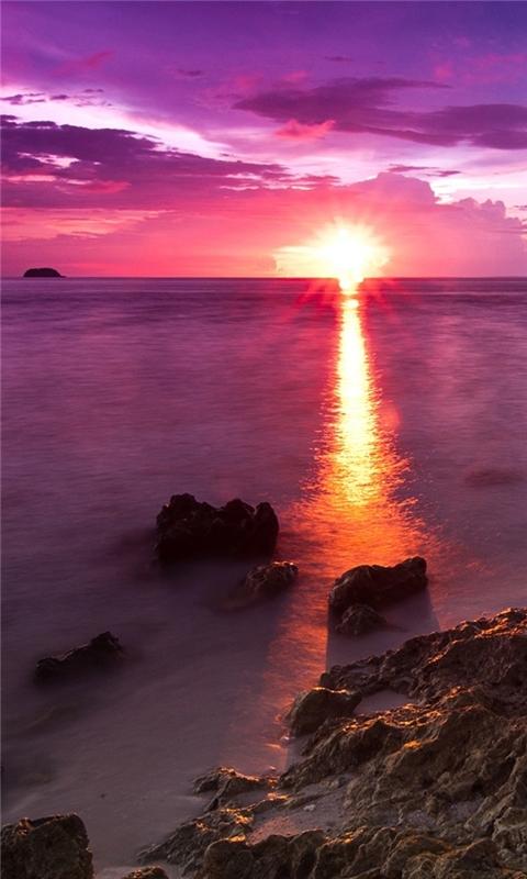 Beach Sunshine Windows Phone Wallpaper