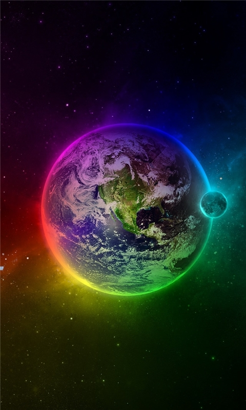 Colorful Earth Windows Phone Wallpaper