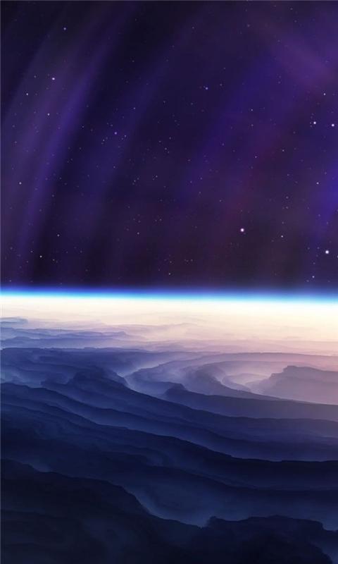 Light Stars Planet Windows Phone Wallpaper