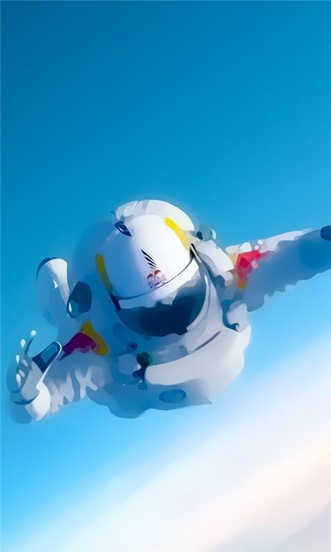 Space Man Felix Baumgartner Windows Phone Wallpaper