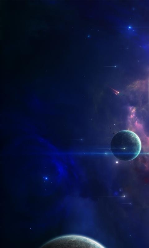 Close Planets Art Windows Phone Wallpaper