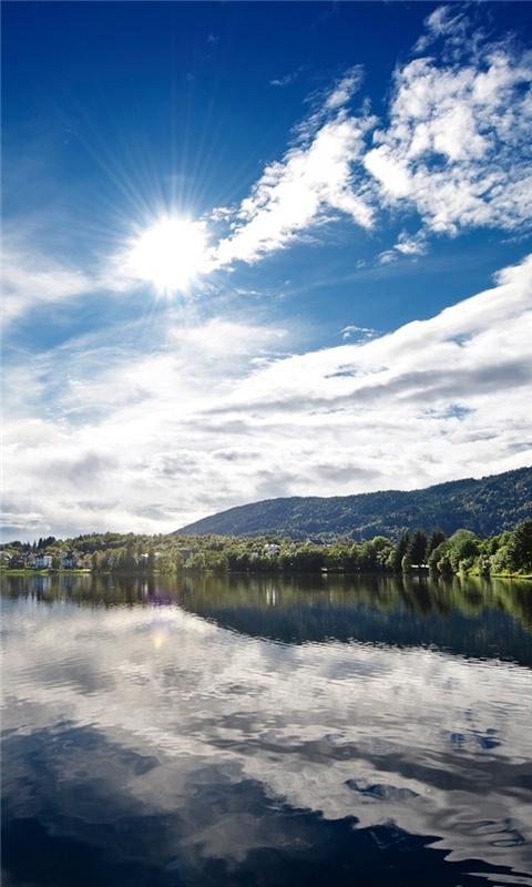 Sunny Lake Windows Phone Wallpaper