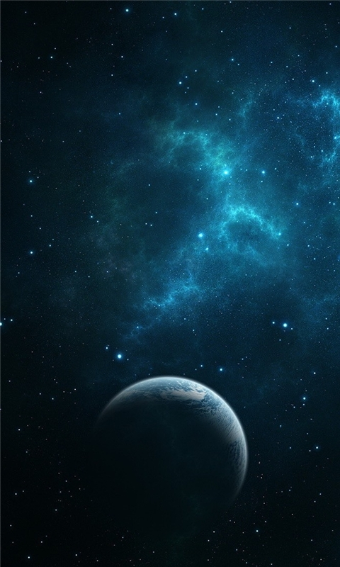 Dark Blue Space Windows Phone Wallpaper