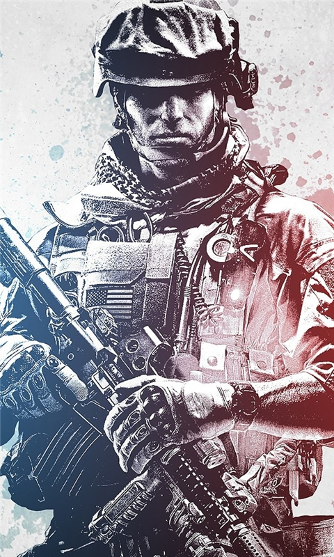 Battlefield 3 Soldier Windows Phone Wallpaper
